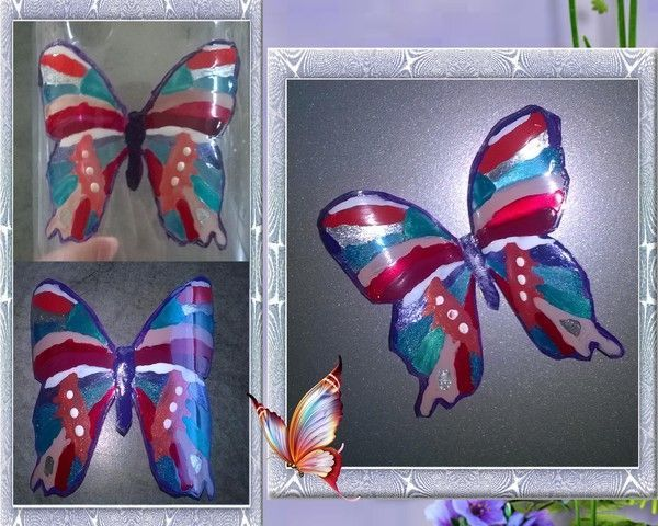 papillon en bouteille plastique bricolage papillon bouteille plastique. Black Bedroom Furniture Sets. Home Design Ideas