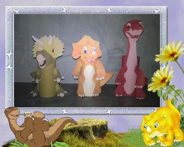 dinosaures avec les rouleaux de papier toilette suite. Black Bedroom Furniture Sets. Home Design Ideas
