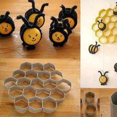 Activites avec des rouleau wc page 2 - Comment fabriquer une ruche ...